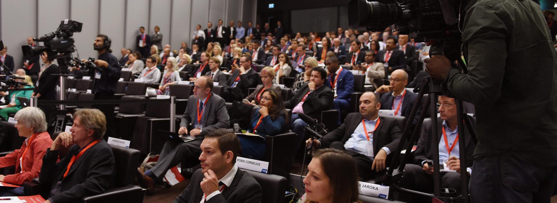 1. World Summit on Ethics in Sports im Home of FIFA in Zuerich 19.09.2014: Uebersicht Auditorium im Home of FIFA FOTO: foto-net