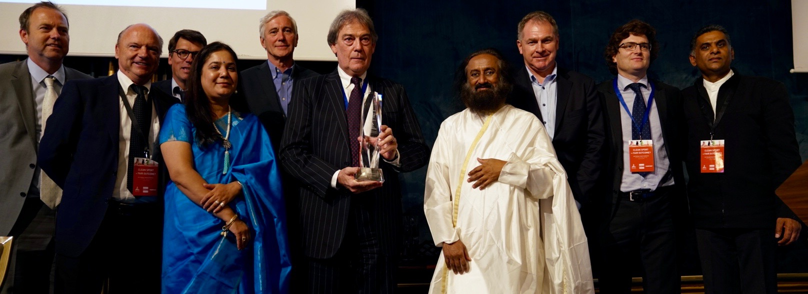 David Howman conferred with Ethics in Sports Award 2018 by WFEB
